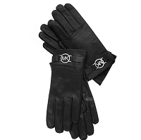 Перчатки MICHAEL Michael Kors Leather with Logo Gloves with Touch Tips